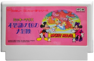 """Mickey Mouse"" Игра для Денди, Famicom Nintendo, made in Japan."