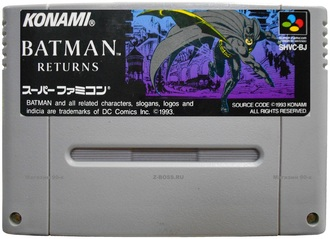 """Batman returns"" no box, Игра для Nintendo Super Famicom NTSC-Japan"